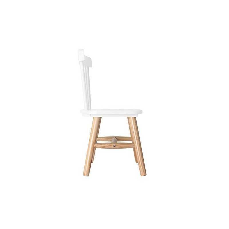 Chaise enfant en bois Blanc The Concept Factory