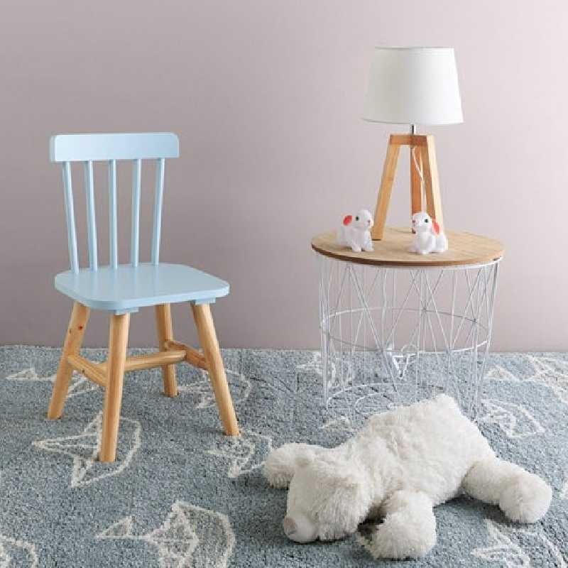 Chaise enfant en bois Bleue The Concept Factory