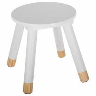 Tabouret enfant en bois douceur Blanc