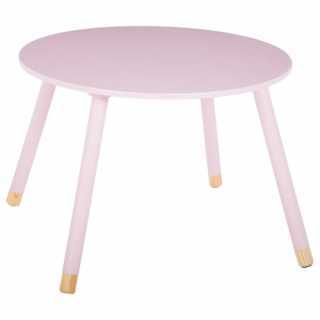 Table d'appoint enfant en bois MDF douceur Atmosphera Rose