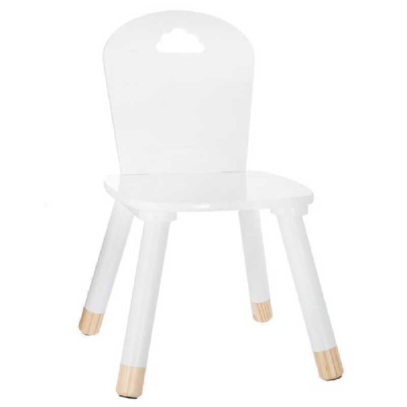 Chaise enfant en bois douceur Atmosphera Blanc