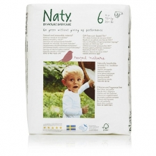 Naty - Couches Écologiques Taille 6 Extra Large (16+ kg) Pack 1 Mois (72 couches)