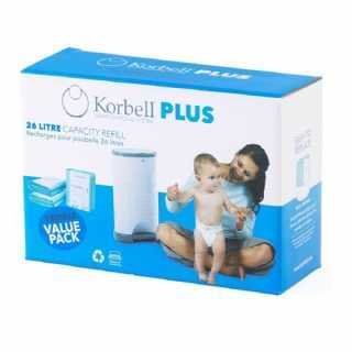 Recharges biodégradables poubelle Korbell Plus 26L X3