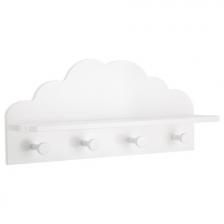 Patère / etagère 2 en 1 nuage 4 accroches Atmosphera Blanc