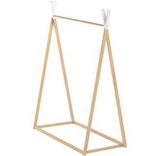 Penderie enfant en pin naturel 126 cm