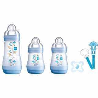 """Kit de naissance """"Bienvenue dans le monde"""" Bleu Mam"""