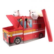 Coffre à jouets Camion Pompier Rouge
