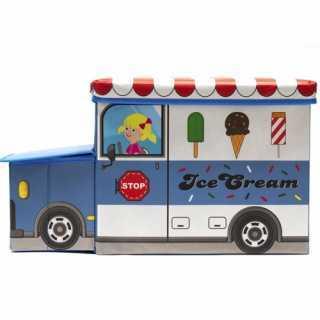 Coffre à jouets Camion de glace Bleu