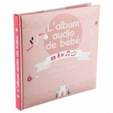 Album de bébé audio - 16 pages Atmosphera Rose