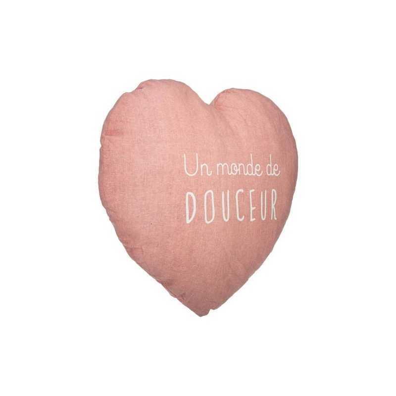 Coussin décoratif Coeur Douce Atmosphera for kids Rose