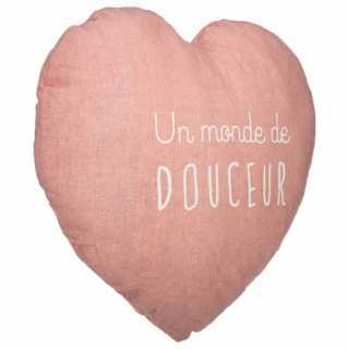 Coussin décoratif Coeur Douce Atmosphera for kids Rose