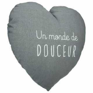 Coussin décoratif Coeur Douce Atmosphera for kids Gris