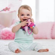 Jeux d'éveil Poney vibrant en peluche Infantino Rose