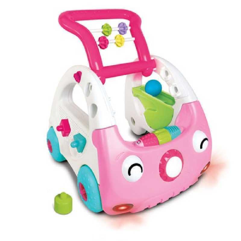 Trotteur d'activité - Senso mini car 3 en 1 B kids Rose