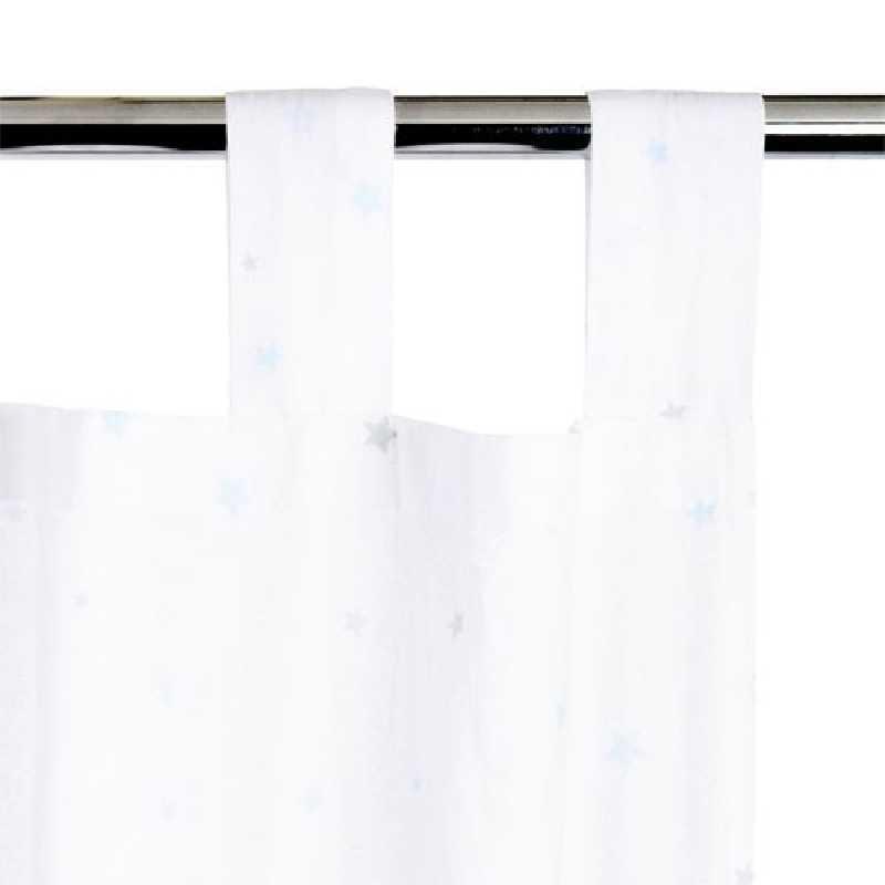 Rideau fille decoré étoile 140 x 260 cm Atmosphera Blanc