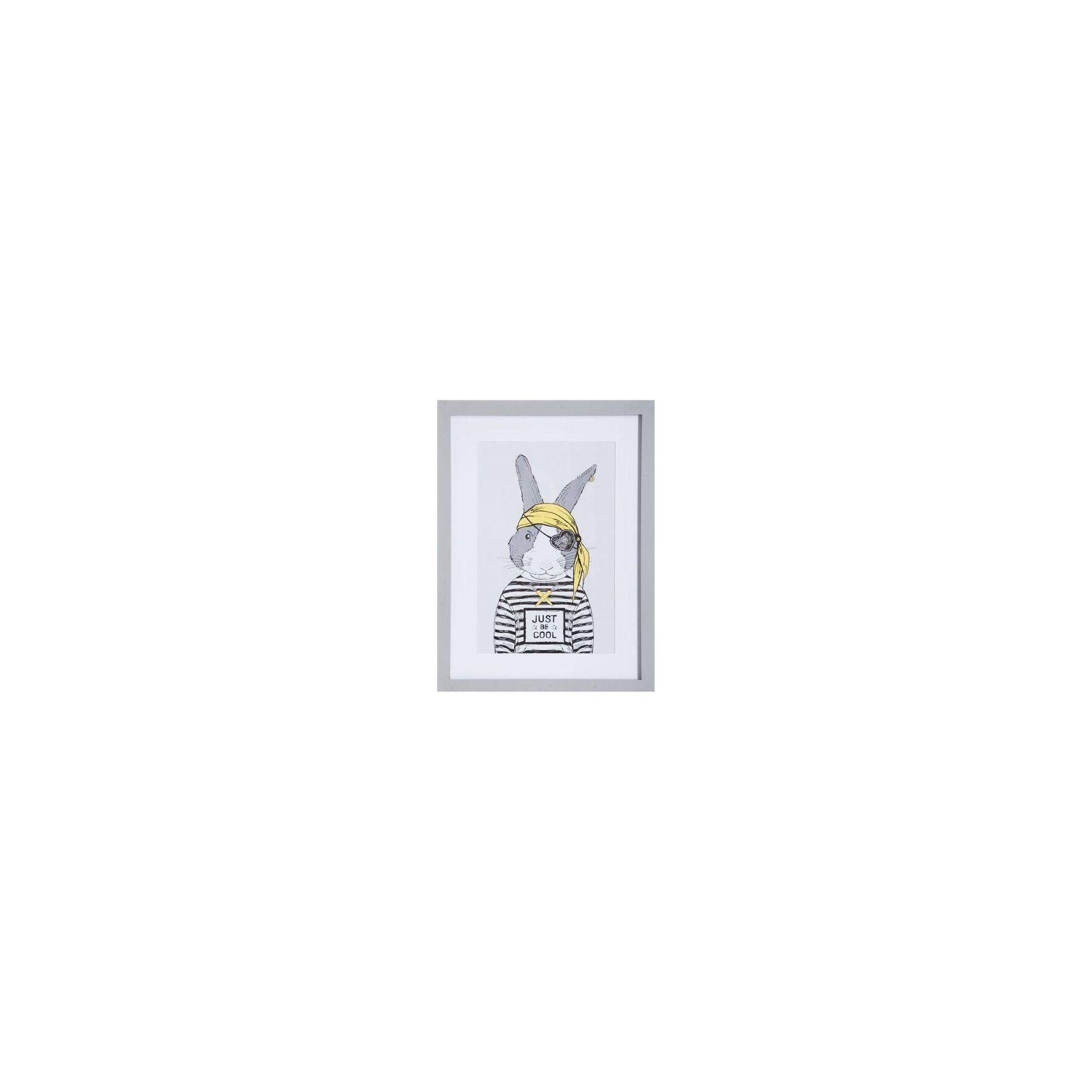 Cadre photo déco pour enfant - 40 x 30 cm - Lapin