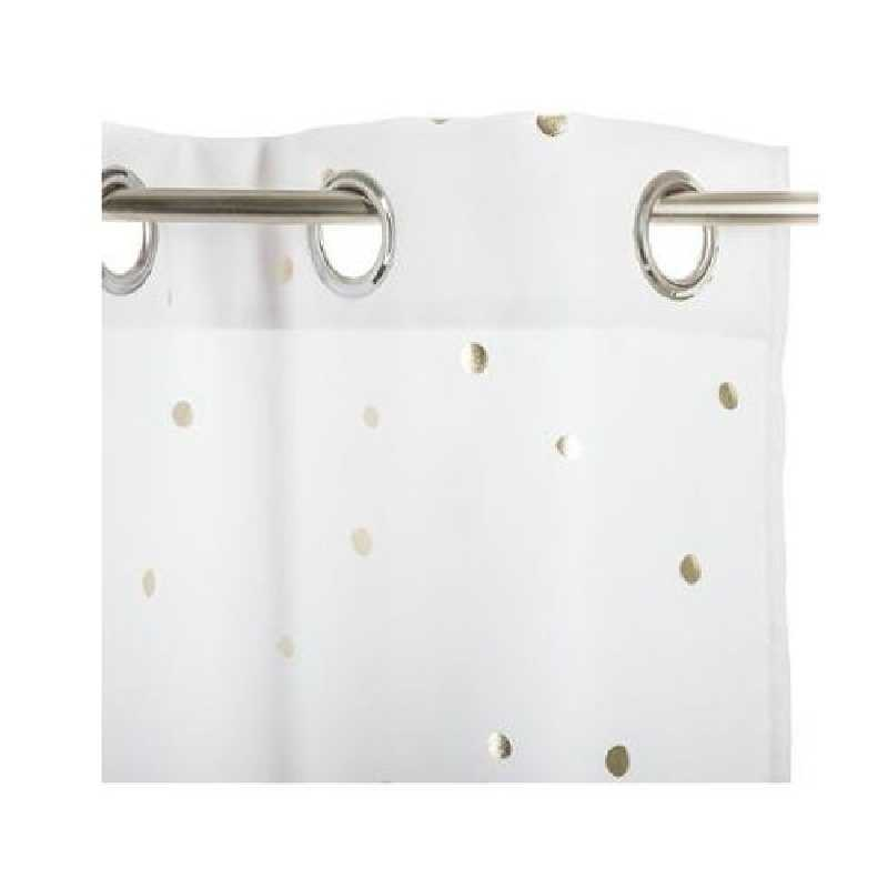 Rideau fille decoré Demoiselle Blanc 140 x 260 cm Atmosphera