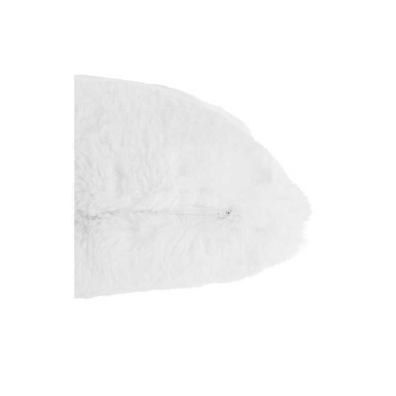Coussin décoratif en fourrure Atmosphera Blanc
