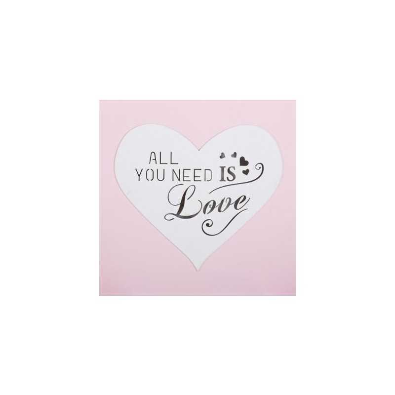 Toile imprimé All you need is love LED Atmosphera Rose