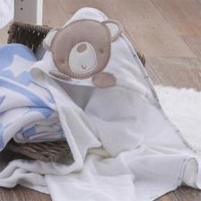 Cape de bain à capuche bébé Little Star Silvercloud