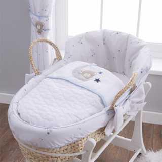 Couffin en osier bébé Little Star Silvercloud
