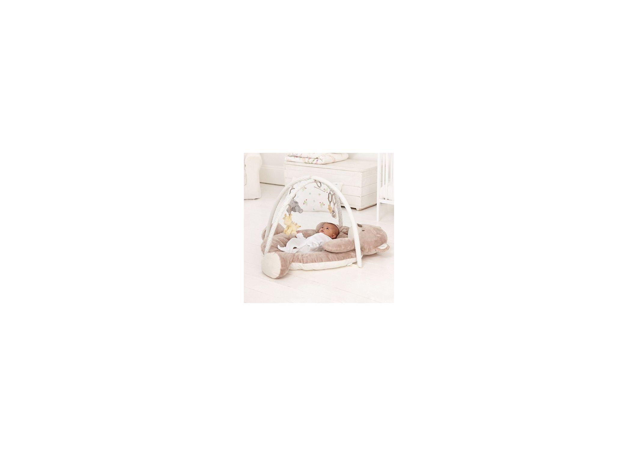 Tapis d'Éveil Ourson Gris/Blanc Mothercare