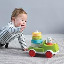 Pyramide voyageuse - Camion empileur Crawl 'n Stack Taf Toys