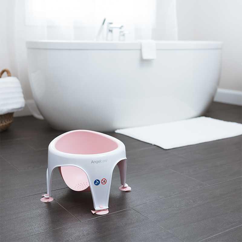 Anneau de bain bébé rose Angelcare