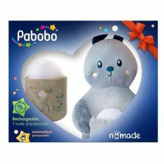 Coffret cadeau bébé Veilleuse portable et son doudou futé Pabobo