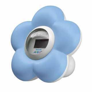 Thermomètre de bain et chambre Fleur Philips Avent Bleu