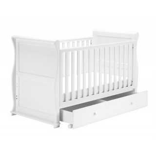 Lit de bébé traîneau avec 2 tiroirs Blanc Alaska East Coast Nursery
