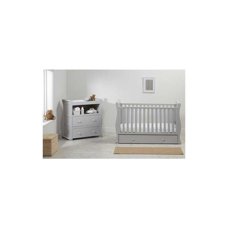 Commode de chambre bébé traîneau Alaska Gris East Coast Nursery