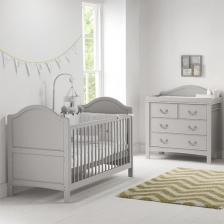 Lit de bébé et enfant Transformable Toulouse Gris East Coast Nursery
