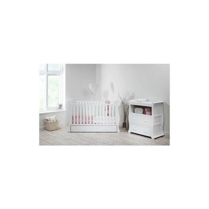 Commode de chambre bébé traîneau Alaska Blanc East Coast Nursery