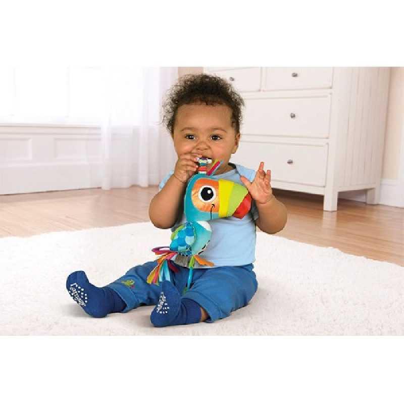 Jouet de voyage doudou bébé Toco le Toucan Lamaze