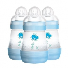 Lot de 3 Biberons Anti-colic Easy Start Bleu 160ml Mam