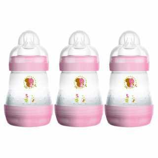 Lot de 3 Biberons Anti-colic Easy Start Rose 160ml Mam