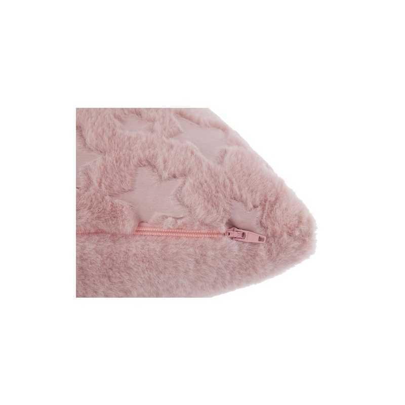 Coussin Fourrure 40 x 40 cm - Rose Atmosphera