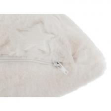 Coussin Fourrure 40 x 40 cm - Blanc Atmosphera