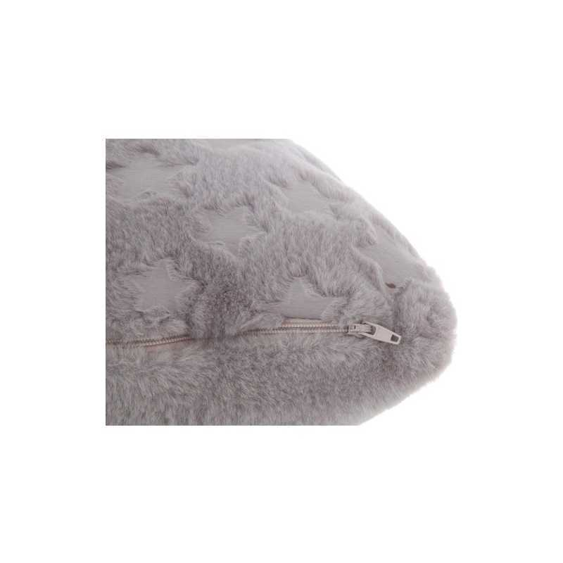 Coussin Fourrure 40 x 40 cm - Gris Atmosphera