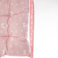 Matelas de sol rose motifs étoilés Atmosphera