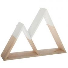 Etagere en bois forme de montagne Blanc Atmosphera