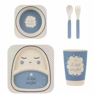 Set de repas en bambou Tom et Zoe Bleu