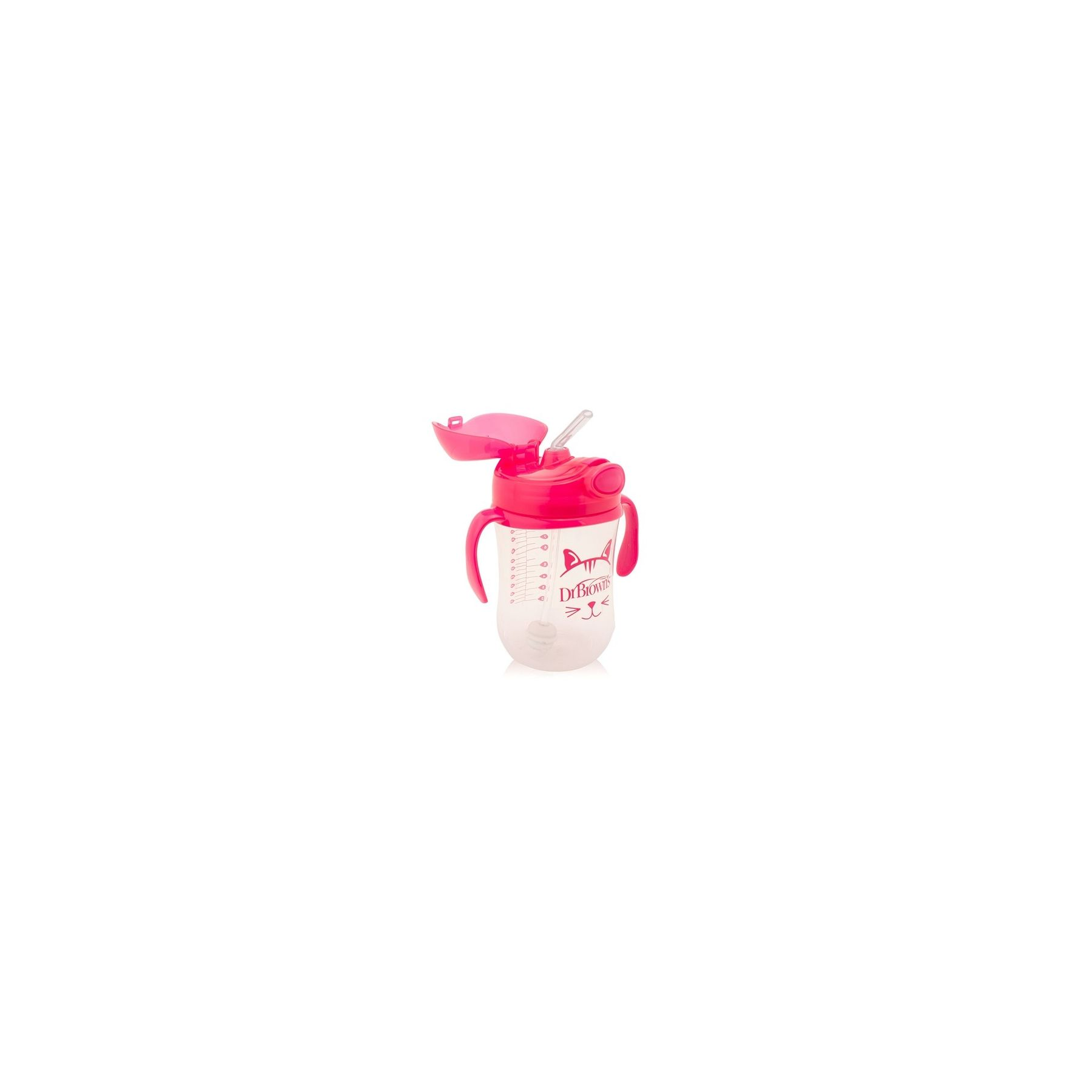 Tasse à paille 270ml Rose Dr Brown's