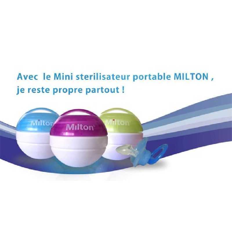 Mini stérilisateur de sucette Gris + 10 mini comprimés