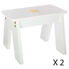 Table blanche pour fille avec 2 tabourets Atmosphera