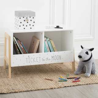 Casier de rangement avec 2 compartiments Blanc Atmosphera