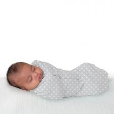 Lot de 2 Gigoteuses bébé en coton 0-2 mois Gris et Blanc