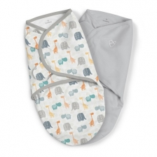 Lot de 2 gigoteuses bébé Swaddle me Safari 0-3 mois Summer Infant