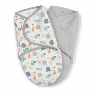 Lot de 2 gigoteuses bébé Swaddle me Safari 0-3 mois Summer Infant